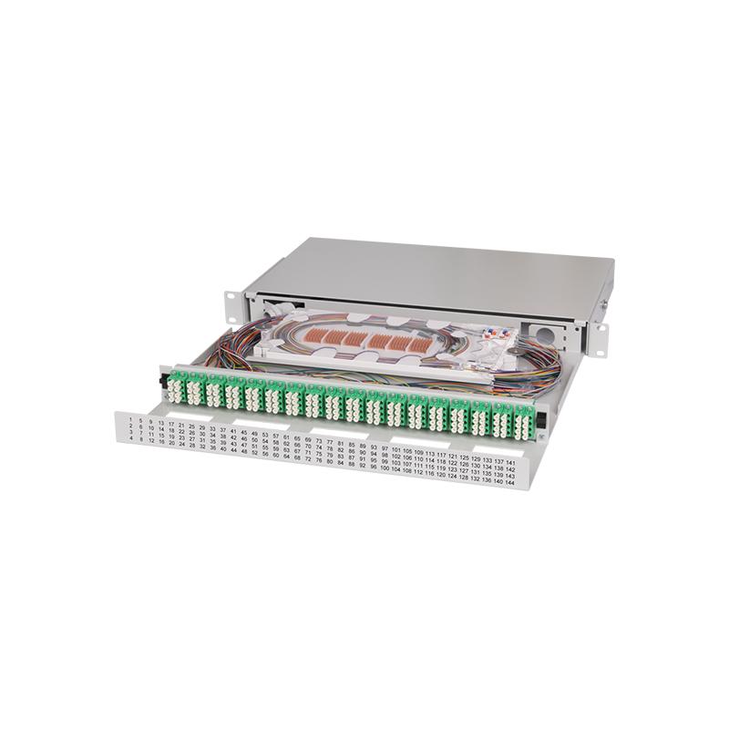 Ultra High Density Fiber Optic Patch Panel UHD ORMP 1U 144LC
