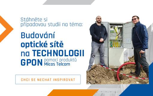 Případová studie: Budování optické sítě na technologii GPON pomocí produktů Micos Telcom